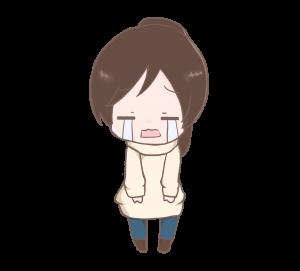 泣いた顔女の子